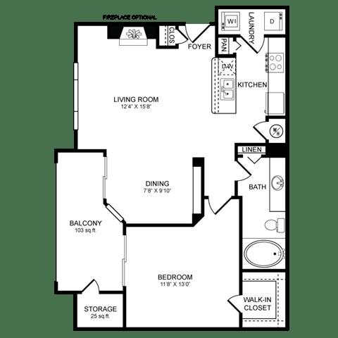 Floor Plan  A4.2 Floor Plan at San Marin, Austin, TX
