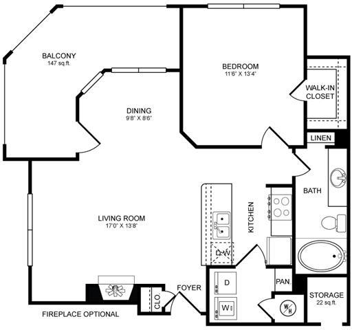 Floor Plan  A3 Floor Plan at San Marin, Austin, Texas