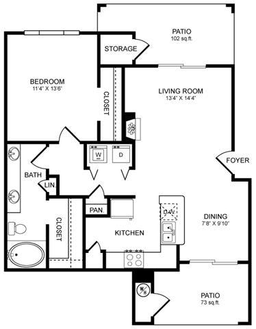 Floor Plan  A5 Floor Plan at San Marin, Texas