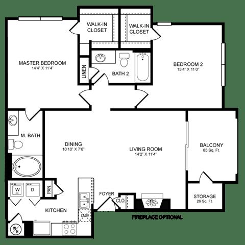 Floor Plan  D5 Floor Plan at San Marin, Texas, 78759