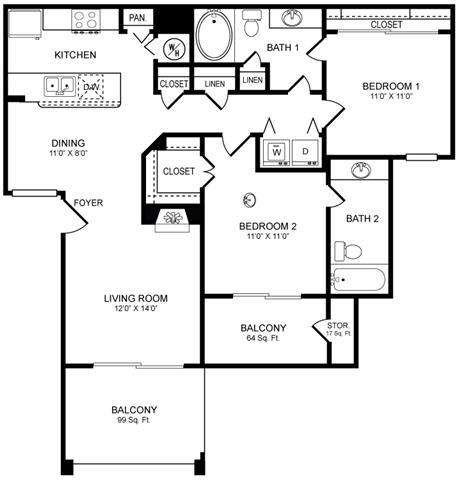 Floor Plan  D4 Floor Plan at San Marin, Austin, TX, 78759