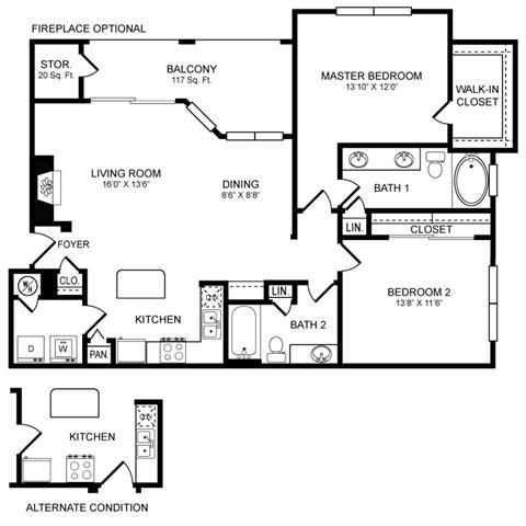 Floor Plan  D7 Floor Plan at San Marin, Austin, TX