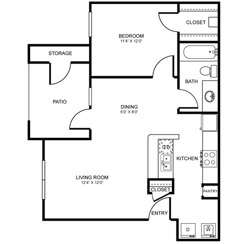 A2 Floor Plan at Stoneleigh on Spring Creek, Garland