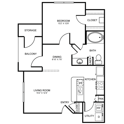 A3 Floor Plan at Stoneleigh on Spring Creek, Texas