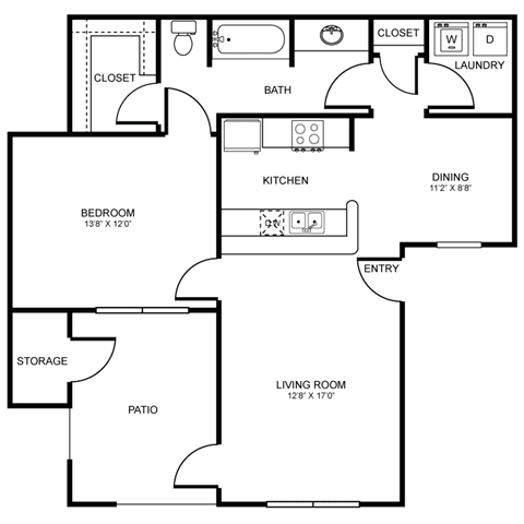 A4 Floor Plan at Stoneleigh on Spring Creek, Texas, 75044