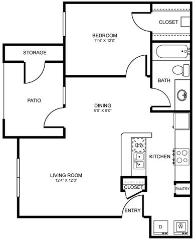 A2 Floor Plan at Stoneleigh on Spring Creek, Garland, TX