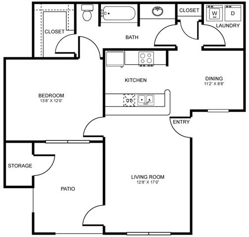 A4 Floor Plan at Stoneleigh on Spring Creek, Garland, Texas