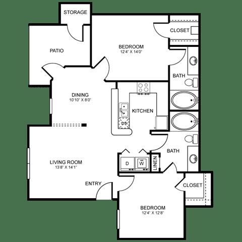 D1 Floor Plan at Stoneleigh on Spring Creek, Garland, TX