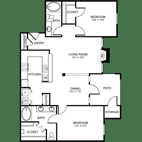 D4 Floor Plan at Stoneleigh on Spring Creek, Garland