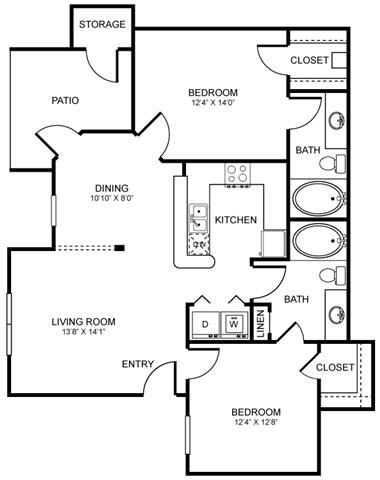 D1 Floor Plan at Stoneleigh on Spring Creek, Texas, 75044