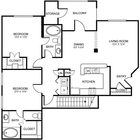 D3 Floor Plan at Stoneleigh on Spring Creek, Garland, TX