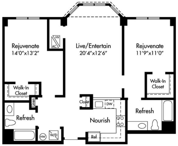 D1 Floor Plan at HighPoint, Quincy