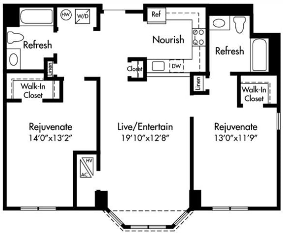 D2 Floor Plan at HighPoint, Massachusetts