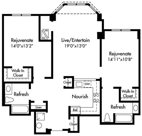 D3 Floor Plan at HighPoint, Massachusetts, 02169