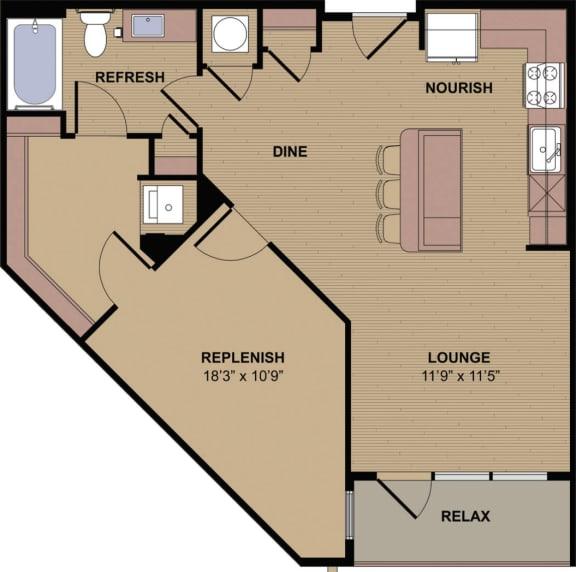 Floor Plan  Collier C Floor Plan at Berkshire Howell Mill, Atlanta, 30318