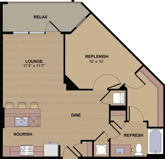 Collier G Floor Plan at Berkshire Howell Mill, Georgia, 30318