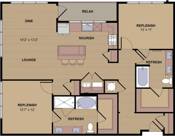 Kilgore Floor Plan at Berkshire Howell Mill, Georgia