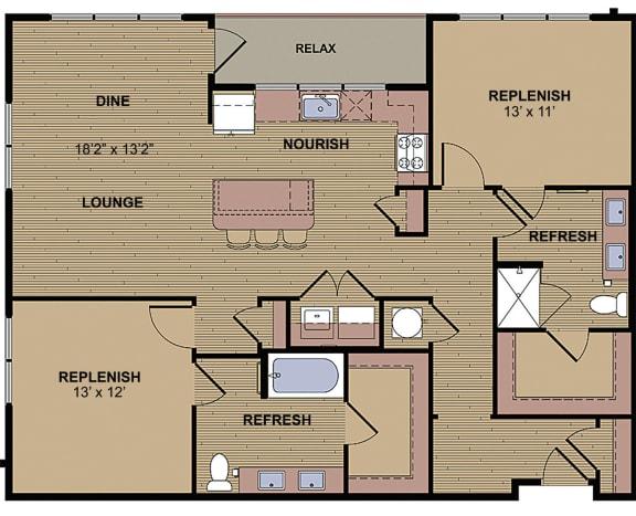 Kilgore HC Floor Plan at Berkshire Howell Mill, Georgia, 30318