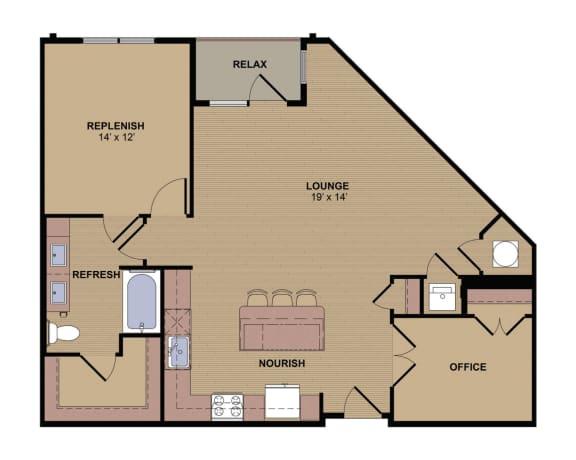 Kipling C Floor Plan at Berkshire Howell Mill, Atlanta, Georgia