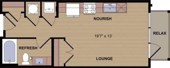 Sunbury C Floor Plan at Berkshire Howell Mill, Georgia, 30318