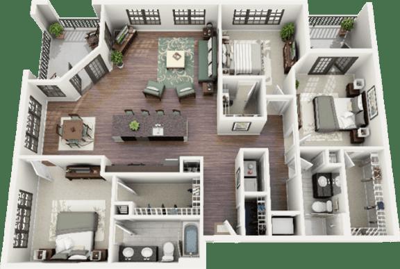 Blackwell Floor Plan at Berkshire Ninth Street, North Carolina, 27705