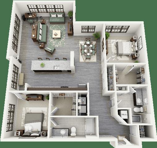 Parrish Floor Plan at Berkshire Ninth Street, North Carolina, 27705
