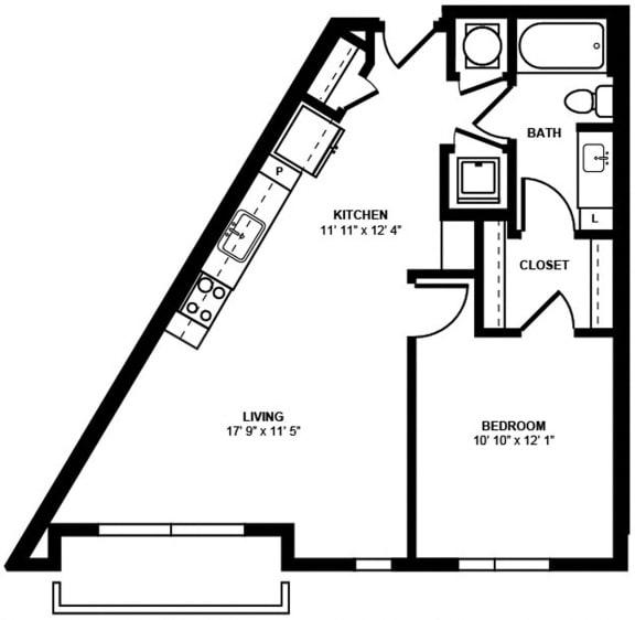 A11 Floor Plan at Berkshire Terminus, Georgia, 30305