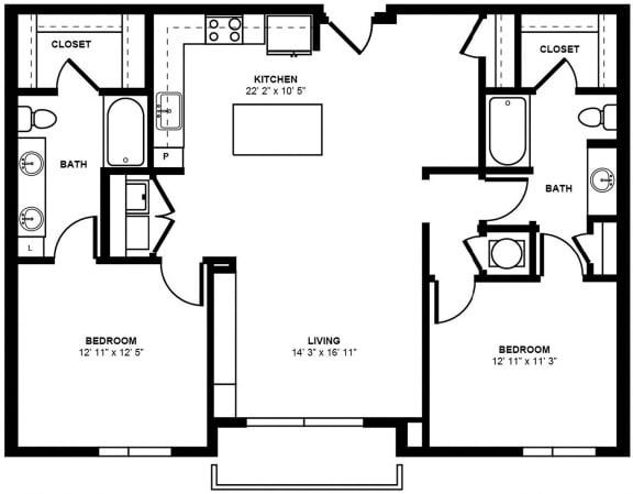 D4 Floor Plan at Berkshire Terminus, Georgia
