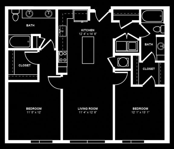 D2 Floor Plan at Berkshire Terminus, Georgia, 30305
