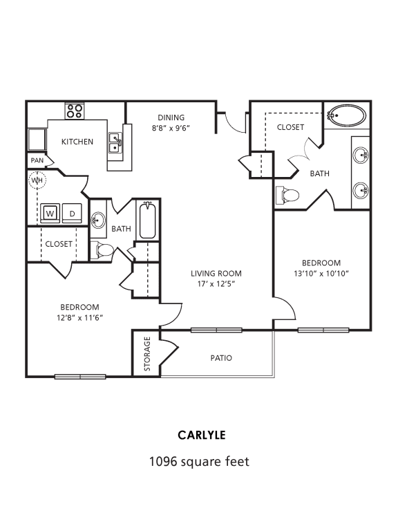 D2 Floor Plan at Providence Uptown, Houston