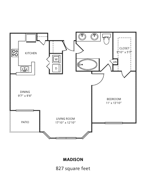A3 Floor Plan at Providence Uptown, Houston, Texas