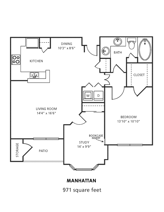 A4D Floor Plan at Providence Uptown, Houston, TX