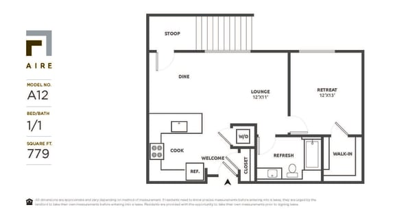 A12 Floor Plan at Aire, California, 95134
