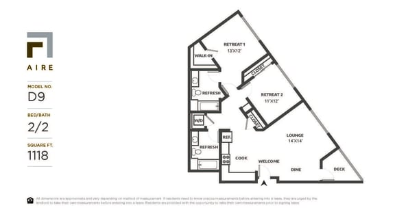D9 Floor Plan at Aire, California