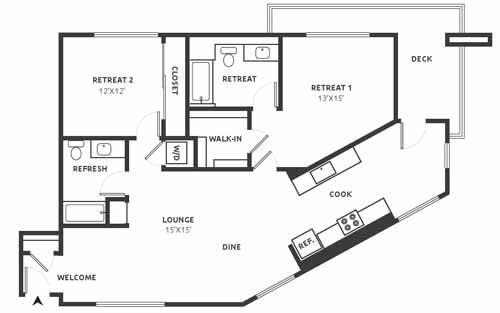 D19 Floor Plan at Aire, San Jose, California