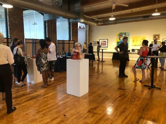 indoor art exhibit