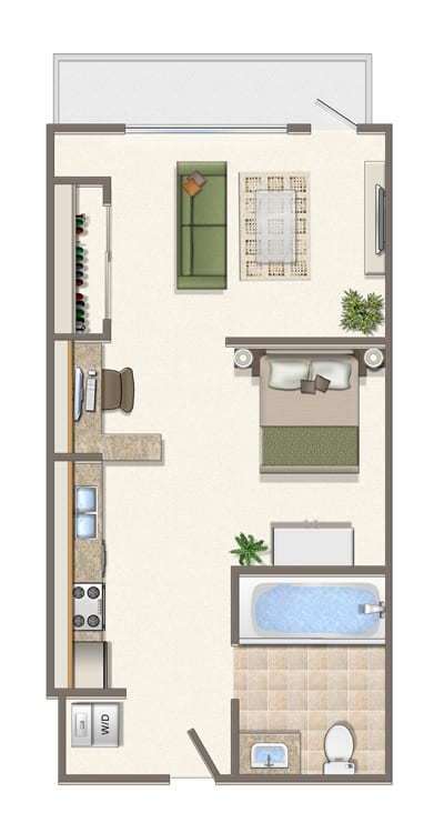 Floor Plan  Jr1x1D-208-308-408