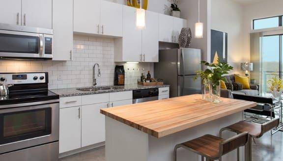 butcher block counter east austin apartments
