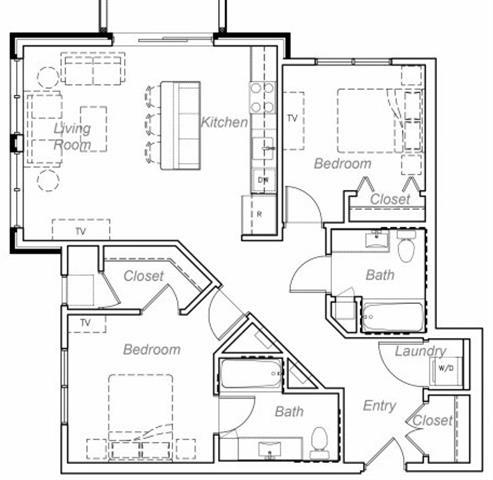 Floor Plan  Adley-M Floor plan at Overlook on the Creek, Minnetonka, 55305