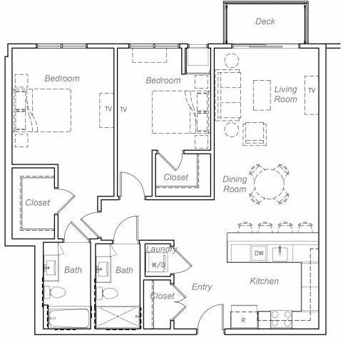 Floor Plan  Barrett-N Floor plan at Overlook on the Creek, Minnetonka, MN