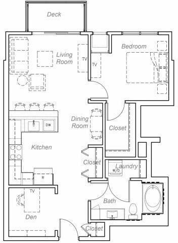 Floor Plan  Belmont--O Floor plan at Overlook on the Creek, Minnetonka, MN 55305