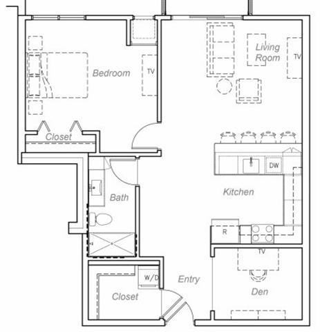 Floor Plan  Carson-F Floor plan at Overlook on the Creek, Minnetonka