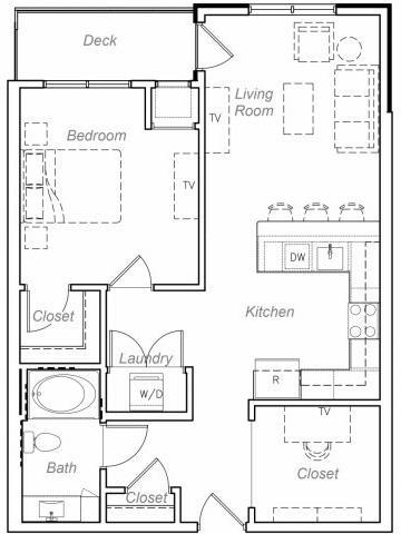 Floor Plan  Jenning-D Floor plan at Overlook on the Creek, Minnetonka, MN