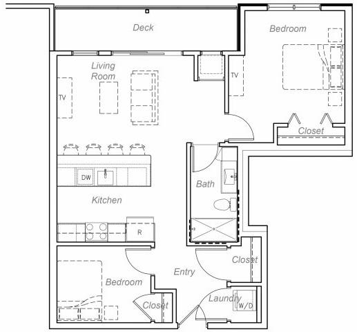 Floor Plan  Maxwell-E Floor plan at Overlook on the Creek, Minnesota, 55305