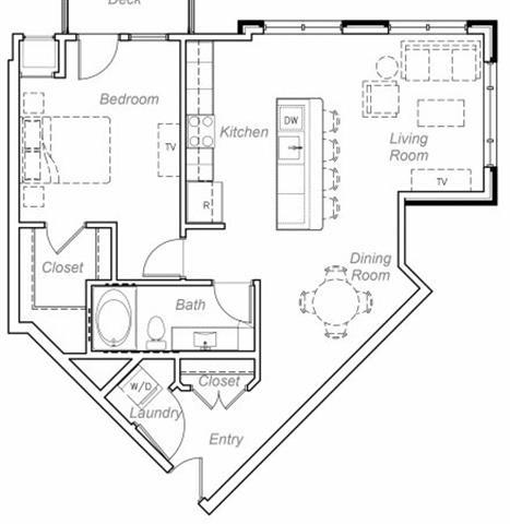 Floor Plan  Seton-B Floor plan at Overlook on the Creek, Minnetonka, Minnesota