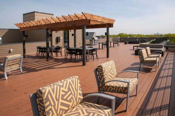 Rooftop Deck at Overlook on the Creek, Minnesota, 55305