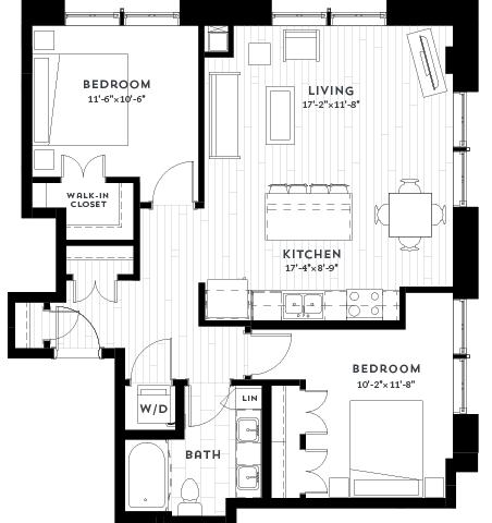 2C Floor plan at Custom House, Minnesota