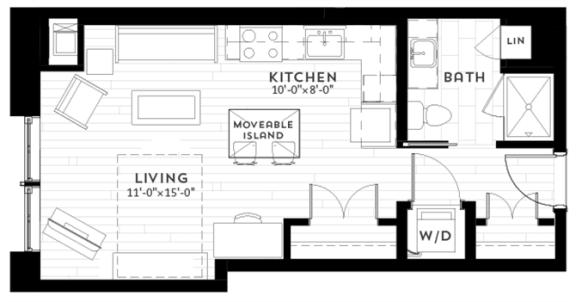 Floor Plan  S1 Floor plan at Custom House, St. Paul, MN