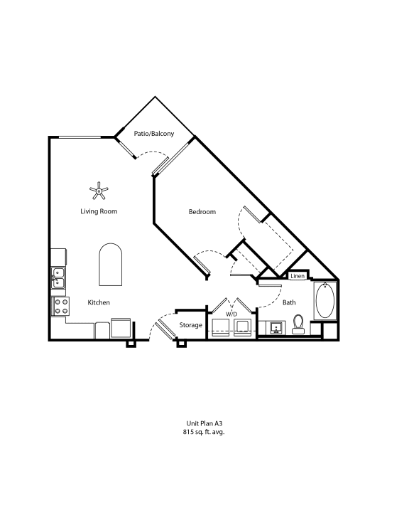 One11_Corona CA_Floor Plan A3_One Bedroom One Bathroom