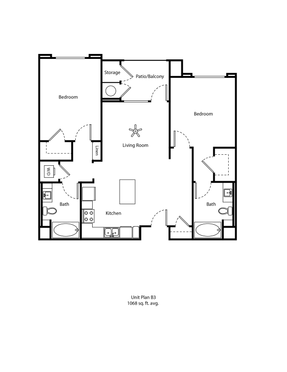 One11_Corona CA_Floor Plan B3_Two Bedroom Two Bathroom